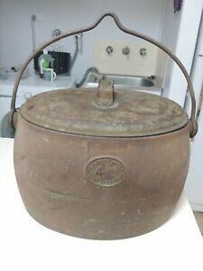 Rare Vintage Kenrick 4 Gallons Cast Iron Oval Pot