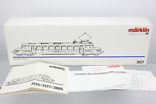 Märklin 3127 OVP Leerkarton mit Anleitung für Blauer Pfeil der ÖBB RBe 2/4 202