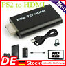 1080P PS2 auf HDMI Konverter Audio Video Adapter für PS2 zu HDTV Monitor DE