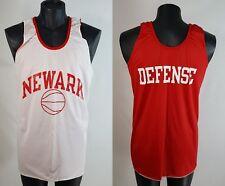 Vintage NEWARK BASKETBALL JERSEY Mens XL 80s Reversible Champion Practice Shirt