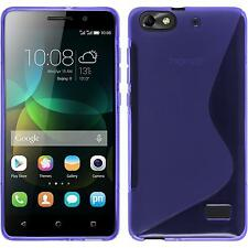 Silicone Case for Huawei Honor 4c S-Style purple + protective foils