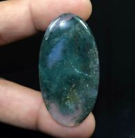 Moss Agate 100% Natural Cabochon 60.35 Cts. Oval Loose Gemstone