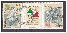ITALIA 1985 - ESPOSIZIONE ROMA 85  - Lire  600  BLOCCO   USATO