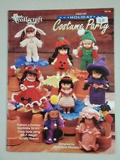 """New listing Crochet Holiday Costume Party Needlecraft Shop Craft Booklet 6 3/4"""" Cindy Dolls"""