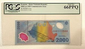 Romania 2000 lei 1999 commemorative solar eclipse - PCGS currency