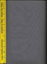 PREMIUM SOLID QUILT FABRIC By The Yard: DC-STEEL GRAY 100% COTTON