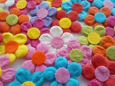 99p Sale! 100x Summer Colour Mix Handmade Mulberry Paper Daisy Flowers (B)