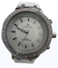 Para Hombre Ruleta Iced Correa De Goma Hiphop Bling Reloj