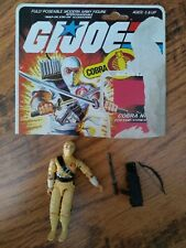 Vintage GI Joe 1984 STORM SHADOW Cobra Ninja action figure + weapons + card