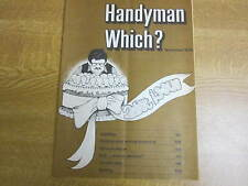 November 1976, HANDYMAN WHICH? MAGAZINE, Curtain Rails, Lighting, Drive Surfaces