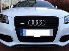 Audi S Line Chrome Metal Car Mesh Front Grill Emblem for A R S Q 1 3 4 5 6 7 TT