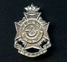 Vintage Scottish Rifles Pin With Clear Stones 33 mm x 22 mm