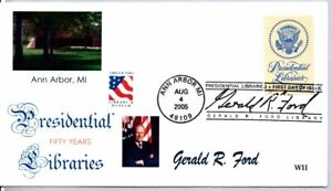 #3930 PRESIDENTIAL LIBRARIES STAMP FIRST DAY OF ISSUE, GERALD FORD, ANN ARBOR