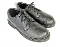 Dr Scholls Harrington Size 8W Black Work Shoes Leather Slip Resistant Oxford Men