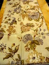 New Bacova~BELMORE SHOWER CURTAIN~Plum~Tan~Beige FLORAL Cabbage ROSES~FLOWERS