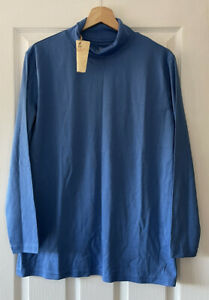 SPIRIT OF THE ANDES BLUE ROLL NECK T-SHIRT LONG SLEEVE TOP XL EXTRA LARGE NEW