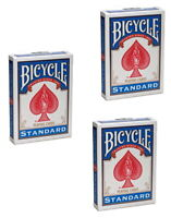 Standard Bicycle Rider Back Poker Playing Cards - 3 Decks (Blue)