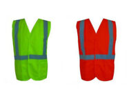 Hi-Vis Workwear Safety Vest with Reflective Tape - Orange and Lime