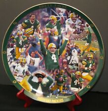 Brett Favre Green Bay Packers Quarterback NFL Numbered Danbury Mint Plate