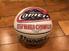 1997 Houston Comets Ownba Ackerman Wnba Champions Painted Basketball Rare Loa