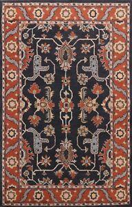 Geometric Traditional Oriental Area Rug Hand-tufted Wool Classic Home Decor 6x9