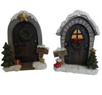 Large Christmas Fairy Door Santa and Elves Workshop 17cm Elf Door, Xmas Gift
