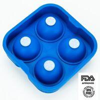 HUJI Food Grade Silicon Ice Ball Maker Ice Mold Tray
