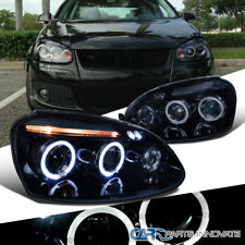 Glossy Piano Black For VW 06-08 Golf Mk5 Jetta Tinted LED Projector Headlights