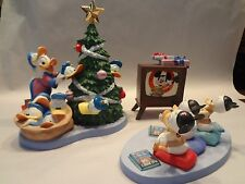 WDCC Disney Holiday Card Donald Hat Trick LE Porcelain Figurines w/COA and Box