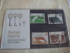 Presentation Pack British Racket Sports 1977