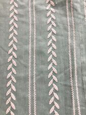 VTG 1940's Chenille Fabric Cotton Remnants Thick Soft Green Cutter Crafts 2#