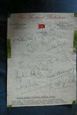 More details for dad's army toby perkins quatermass larry noble +10 hand signed page