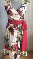 TED BAKER Adious Wrap Print Dress **Rare Size 4** (12-14) WAS £175