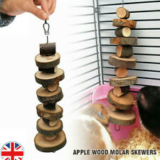 More details for small pet apple wood chew sticks twigs for rabbit hamster guinea pig toys .