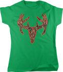 Camo Deer Skull, Deer Hunter, Big Buck Women's T-shirt