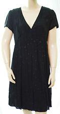 Robe noire I.CODE by IKKS motifs marrons femme QA30224 taille 42 FR