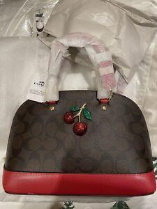 Nwt Coach Mini Sierra Purse With Cherry Detail