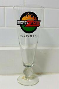 ESPN ZONE Baltimore Beer Glass w/ Baseball Design Pint Glass Mug