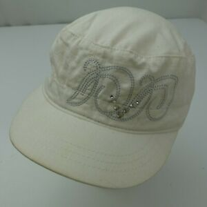 Callaway White Jeweled Army Cap Hat Adjustable Baseball Women's