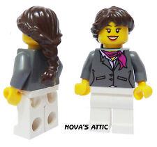 LEGO CITY AIRPORT FEMALE STEWARDESS MINIFIGURE NEW