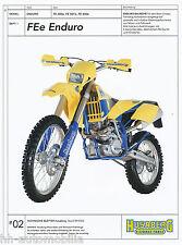 Prospekt Husaberg FE Enduro 400e 501e 650e 9/02 (D) Technisches Blatt  brochure