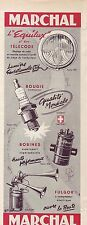 PUBLICITE ADVERTISING 034 1954 MARCHAL Accessoires automobiles