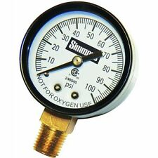NEW Simmons Mfg Co 1305 Pressure Gauge 1/4in Steel Case With Glass Face *