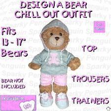 DESIGN A BEAR CHILL OUT OUTFIT TOP TROUSERS TRAINERS CLOTHES COSTUME BUILD TEDDY