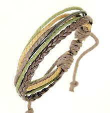 Brun foncé et bracelet en cuir noir surf bracelet bracelet avec cordons colorés