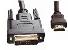 DVI-D to HDMI LCD Digital TV / Display / Monitor Cable / Lead, Male to Male, 5M