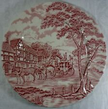 Alfred Meakin Coaching Days Pink Dinner Plate