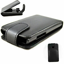 Black Flip Leather Hard Protective Skin Case Cover Pouch For LG Optimus L3 E400