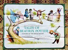 1971 TALES OF BEATRIX POTTER - ROYAL BALLET DANCERS - LARGE COLOR MOVIE POSTER
