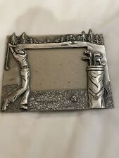 Metal Golf Picture Frame. Pewter/Silver Color. Dimensions are 5 1/4� x 6 1/4�.